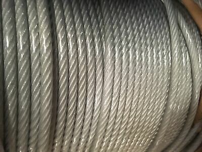 """5//16/"""" Galvanized Aircraft Cable Steel Wire Rope 7x19 450 Feet"""