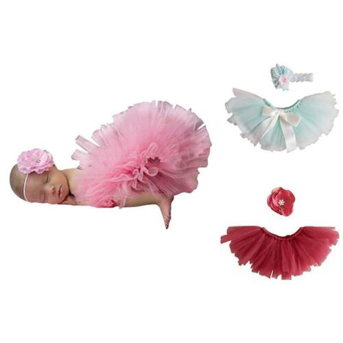Infant Baby Girl Crochet Knit Tutu Skirt Costume Photography Photo Prop Outfits