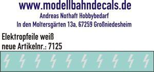 10 Spur 1 weiße Elektropfeile 6,8 x 3,8 mm - Decals TOP 032-7125