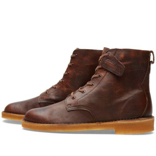 Clarks Originals Herren X Desert Mali Stiefel Rust Lea UK 6.9, 10.12G