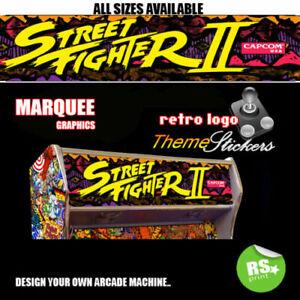Street Fighter 2 Graphic Arcade Artwork Marquee Stickers Graphic