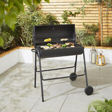 Tesco Steel Barrel Charcoal Barbecue With Temperature