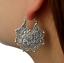 Geometric Pendant Hollow Out Floral Dangle Drop Flower Ear Studs Hoop Earring