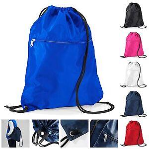 Drawstring Bag School Book Bag Sport Gym Sack Swim PE Dance Shoe ... e91919bb13fcc