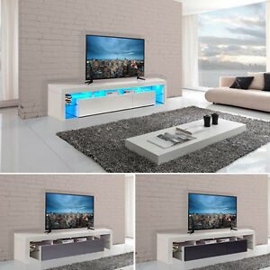 Image Is Loading Modern Tv Cabinet Unit Gloss Solid Wood 189cm