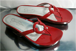 Jessica Simpson JS - Florie, Mesh Red Thong Style Flats / Sandals, Size 7B