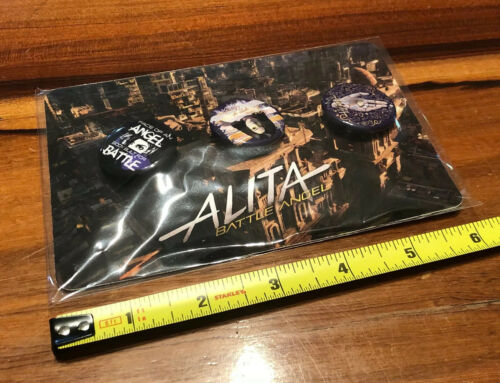 Alita Battle Angel Art Print Button Set 2018 SDCC Comiccon Exclusives RARE