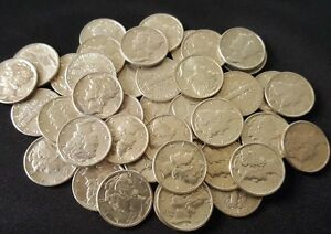 UNCIRCULATED-90-Silver-Mercury-Dimes-Old-U-S-Coins-1916-1945-1-COIN