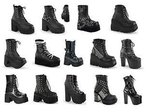 9fede2ec111 Details about Demonia Women's Platform Vegan Ankle Boots Assault Cramp  Dynamite Grip and more