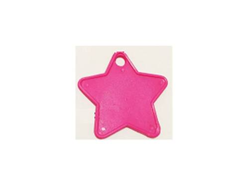 50 HOT PINK CERISE STAR PLASTIC FOIL BALLOON WEIGHT WEIGHTS HELIUM//LATEX