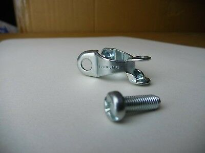 NOS Shimano Chainstay Cable Stop Clamp Rear Derailleur Chromed Steel Vintage