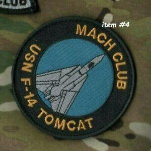 USN F-14 Tomcat Twin-Engine Fighter 1970-2020 50-YEAR ⭐⭐ Mach Club ⭐⭐Velkrö