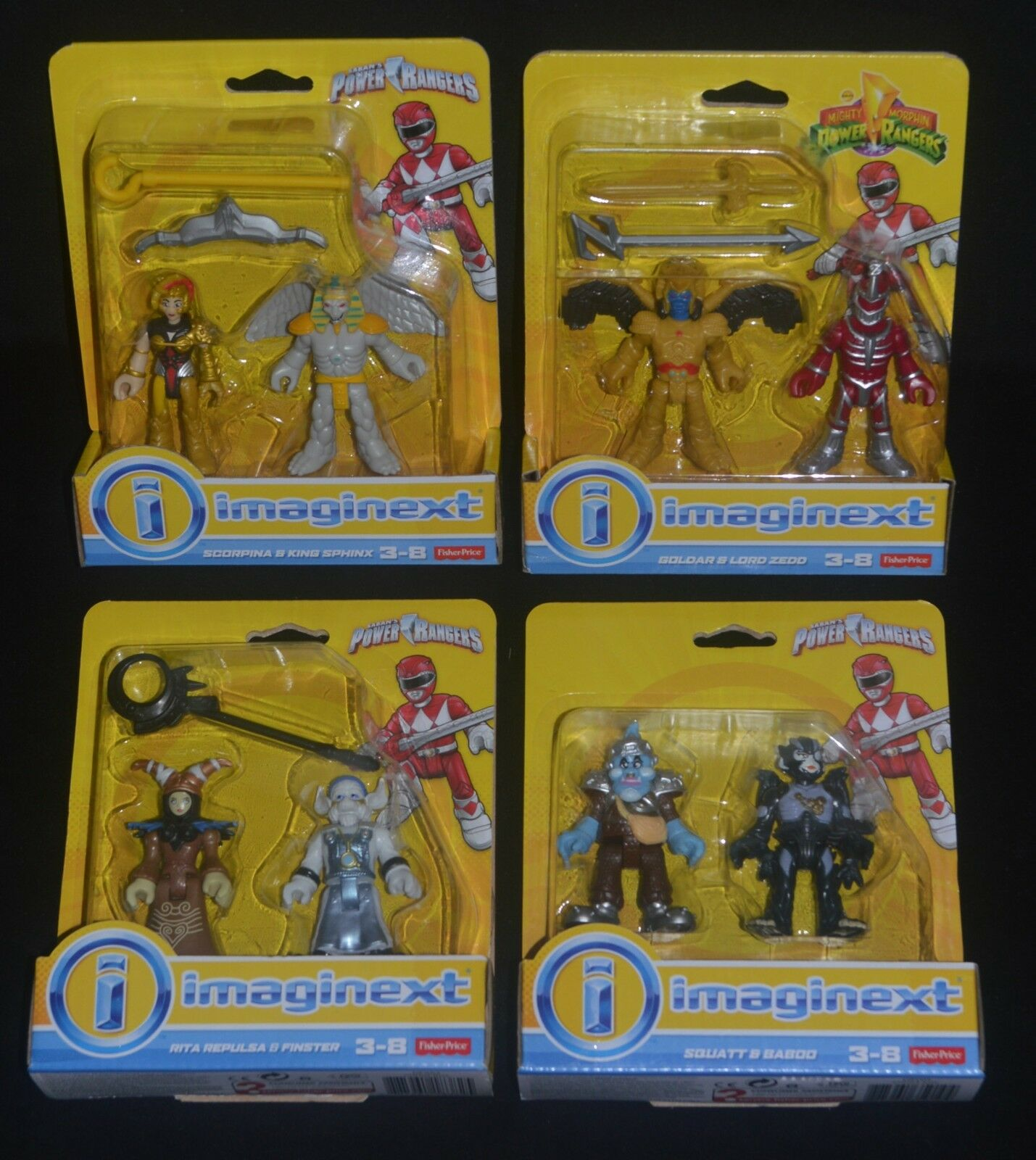 Power Rangers Rangers Rangers Large goldAR & RITA REPULSA, SCORPINA & KING SPHINX & 3 Other Sets c131c6