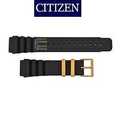 Citizen Original 22mm BLACK Rubber Watch Band Strap AL0004-03E AL0005-01E