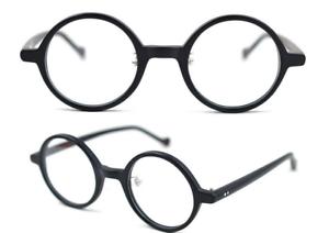 c032fe08c Image is loading Round-vintage-solid-Acetate-Eyeglasses-Frame-mens-1960-