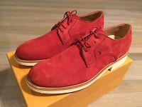 600$ Tod's Red Suede Shoes Size Us 12 Made In Italy