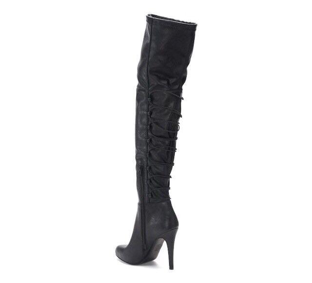JENNIFER LOPEZ AZURITE LACE-UP OVER-THE-KNEE STILETTO Stiefel Stiefel Stiefel SZ 10 f9994f