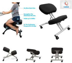 Ergonomic Orthopaedic Posture Steel Adjustable Kneeling Stool Chair Seat office
