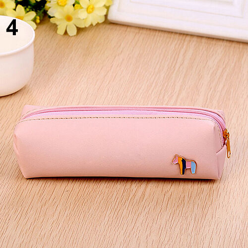 Utmost Cute Horse Pencil Pen Case Cosmetic Pouch Pocket Purse Zipper Makeup Bag