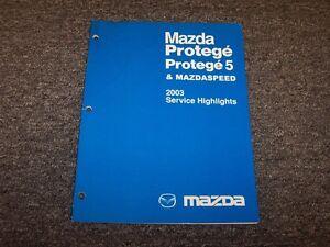 2003 mazda protege 5 mazdaspeed protege5 service highlights shop rh ebay com 2003 mazdaspeed protege owner's manual 2003 mazda protege service manual