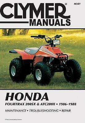 1986 1988 Honda Fourtrax 200sx Atc 200x Atv Repair Service