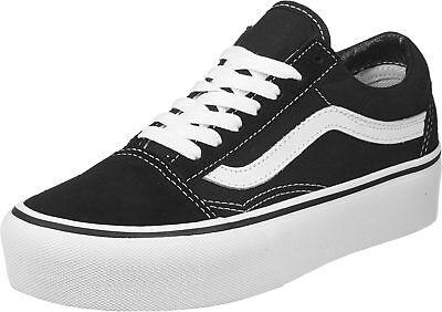 Scarpe Donna Vans Old Skool Platform Sneakers Zeppa Skate Black Nero Onda White | eBay