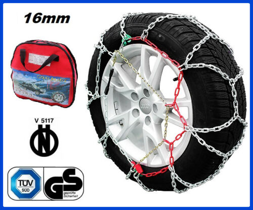CATENE DA NEVE 4x4 SUV 16MM 255//55 R18 BMW X5 01//2006-/>12//13