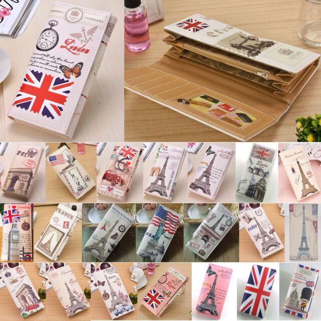 Women Lady Leather Printed Designer Long Purse Clutch Wallet Card Holder Case