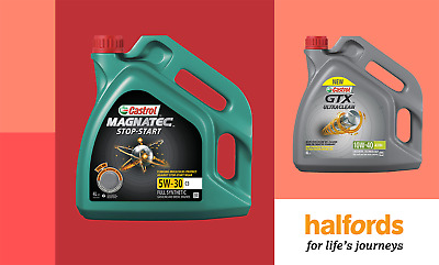 20% off 4L Castrol Engine Oils from Halfords