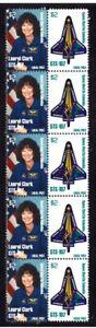 COLUMBIA-NASA-SPACE-STRIP-OF-10-TRIBUTE-VIGNETTE-STAMPS-CLARK