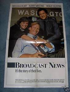 BROADCAST-NEWS-LOT-OF-10-1987-WILLIAM-HURT-1SHEET