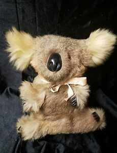 Vintage Koala Bear Real Fur 10 inch Stuffed Hard Body | eBay
