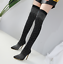 Women-039-s-Over-Knee-Thigh-Boots-Rhinestone-Pointy-Toe-Pull-On-Stiletto-Heel-Shoes thumbnail 2