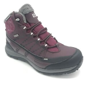 d8bb15b12557 Salomon Women s Kaina CS Waterproof 2 Snow Boot bordeaux purple ...