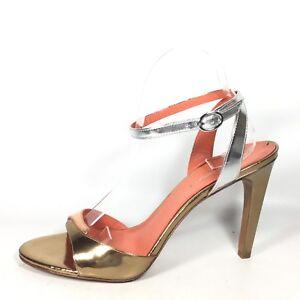 16bfc18ecd2 Via Spiga Rosemary Womens Size 9.5 M Gold Silver Leather Heel ...