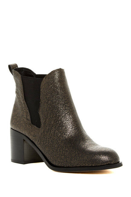Sam Edelman Justin botín de de botín cuero para mujer Negro oro 7829 tamaño 8 M e8c377