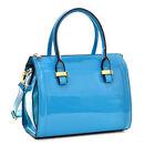 New Women Leather Handbag Mini Barrel Satchel Tote Shopper Shoulder Bag Purse