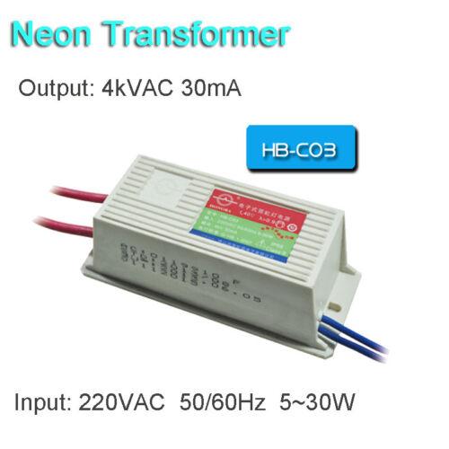 Neon Electronic Transformer 4KV30mA 30W Load 3M Neon Sign Power Supply Ballast