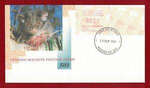 1988-Australia-Ringtail-Possum-39c-stamp-blank-no-value-frama-rare-FDC-cover