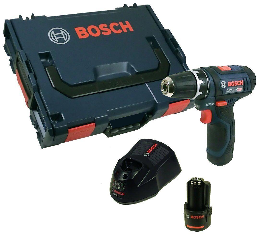 Bosch Akkubohrschrauber GSR 12 V-15 inkl. 2 x Akku 2,0 Ah + LG in L-Boxx