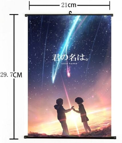 """Hot Japan Anime Your Name Poster Wall Scroll Home Decor 8/""""×12/"""" 05"""