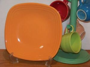 Fiesta-TANGERINE-9-034-Square-Luncheon-Plate-Discontinued-Color