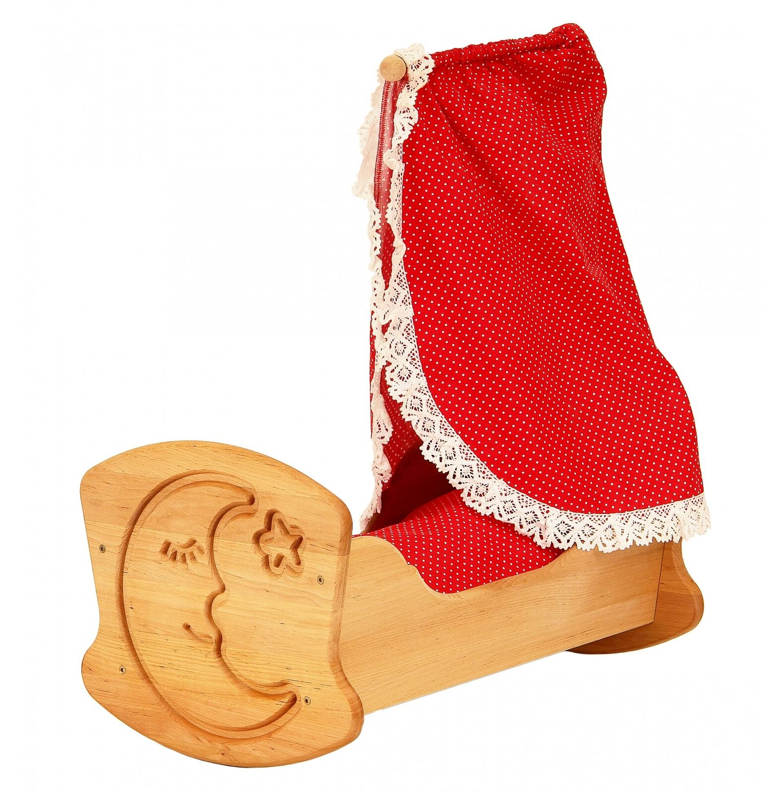 Drewart Puppenwiege Puppenbett Holzbett mit Bettzeug aus Erlenholz 933 933 933 3072 de89a3