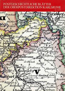 Postgeschichtliche-Blaetter-KARLSRUHE-Nr-1-1979-Post-in-ALTENGLAN-LANDSTUHL