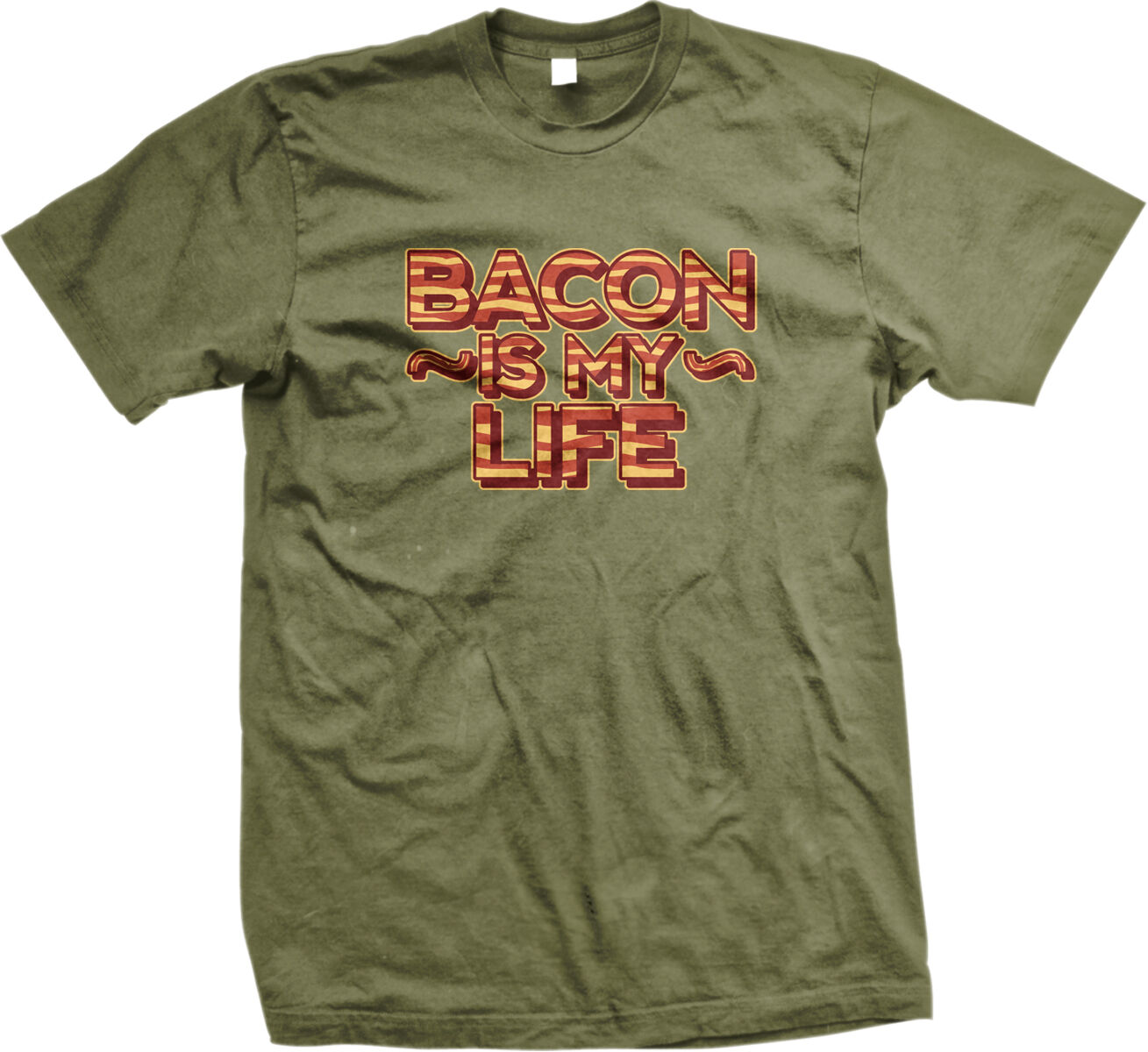 Bacon Pig Outline BBQ Barbecue Paleo Meat Candy Breakfast Mens V-neck T-shirt