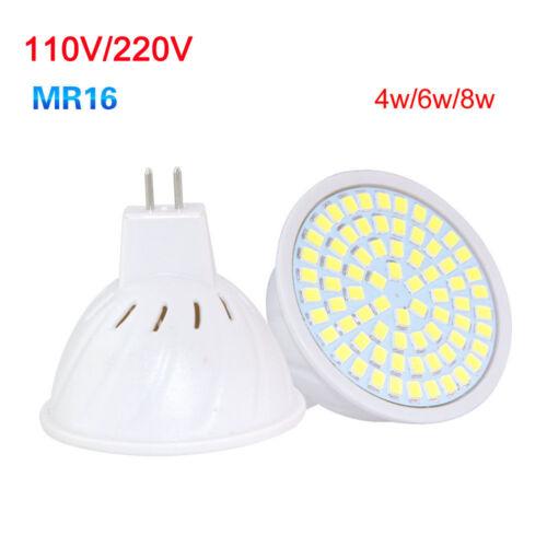LED Bulb Spotlight 4W 6W 8W MR16 GU10 E27 2835 SMD Decor Lamp 110V 220V Bright