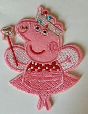 Peppa  Iron On Patch - Peppa Pig Embroidered Applique - READY TO SHIP!