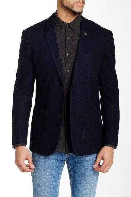 Herren Farah Vintage Lake Wool Blend Coat Blau 36
