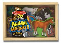 Melissa Doug 20 Animal Magnets In A Box, New, Free Shipping
