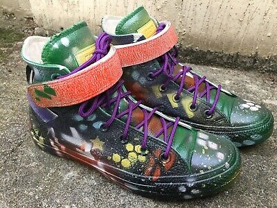 Womans Custom Made Leather Converse